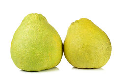 Pomelo fruit isolated on the white background Royalty Free Stock Images