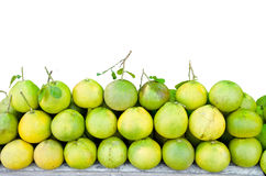 Pomelo fruit with leaves Royalty Free Stock Photo