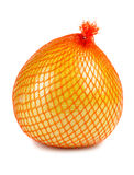 The pomelo fruit wrapped in plastic reticle Stock Photo
