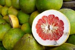 Pomelo fruits. Fresh pomelo fruits or shaddock fruit Royalty Free Stock Photography