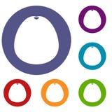 Pomelo icons set Stock Photos