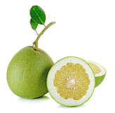 Pomelo isolated on the white background Royalty Free Stock Photos