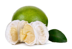 Pomelo isolated on the white background Stock Photography