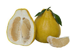 Pomelo and its segment and cross-section Stock Images