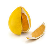Pomelo lemon isolated on white background with clipping path Stock Photos