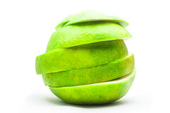 Pomelo sliced sections. Fruit. Isolated on white background Royalty Free Stock Photos
