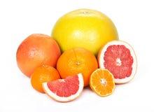 Pomelo, toranja, laranja, tangerina Fotografia de Stock Royalty Free