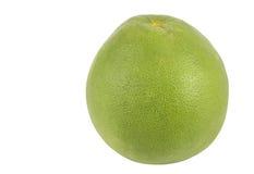 Pomelo verde en el fondo blanco aislado Imagen de archivo libre de regalías