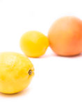 Pomelo y limón Fotografía de archivo libre de regalías
