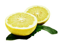 Pomelo or yellow grapefruit isolated on white. Stock Image