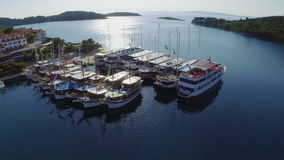 Pomena en parc national Mljet, Croatie Photo stock