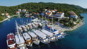 Pomena in National Park Mljet, Croatia Royalty Free Stock Photography