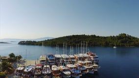 Pomena w parku narodowym Mljet, Chorwacja Zdjęcia Royalty Free
