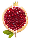 Pomengranate concept. Concept photo of pomegranate on white background Royalty Free Stock Photo