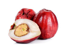 Pomerac, Maleisische die appel, op witte achtergrond wordt geïsoleerd Royalty-vrije Stock Afbeelding