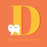 Pomeranian dog illustration Royalty Free Stock Image