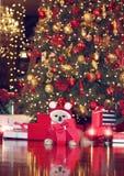 Pomeranian Santa foto de stock royalty free