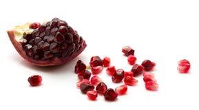 Pomergranate fresco isolado fotos de stock