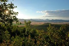 Pomeriggio atmosferico in Europa centrale Fotografie Stock