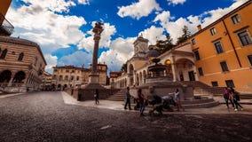 Pomeriggio della primavera nella città di Udine Immagine Stock