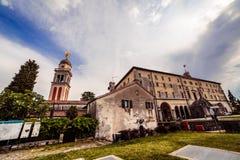 Pomeriggio della primavera nella città di Udine Fotografia Stock Libera da Diritti