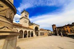 Pomeriggio della primavera nella città di Udine Fotografie Stock Libere da Diritti