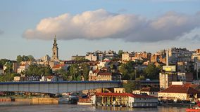 Pomeriggio di Belgrado Serbia fotografie stock libere da diritti
