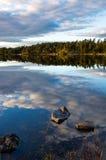Pomeriggio di caduta dal lago Immagine Stock Libera da Diritti