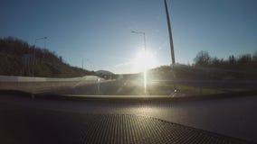 Pomeriggio di lasso di tempo dell'automobile stock footage