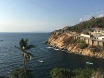 Pomeriggio di vista della baia di Acapulco fotografie stock libere da diritti