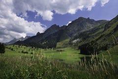 Pomeriggio nelle montagne di Aravis fotografie stock