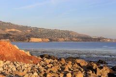Pomeriggio pacifico a Palos Verdes, California fotografia stock