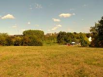 Pomeriggio soleggiato del parco Immagine Stock