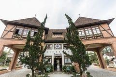 Pomerode, портал входа города Санта-Катарина Стоковое Изображение