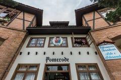 Pomerode, portal de la entrada de la ciudad Santa Catarina Imagenes de archivo