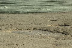 Pomezia硫磺在罗马附近的在意大利 免版税库存图片