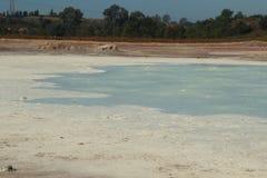 Pomezia硫磺在罗马附近的在意大利 库存图片
