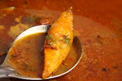 Pomfret curry Stock Photo