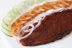Pomfret Fry- A dish of a fried fish from Goa Stock Photo