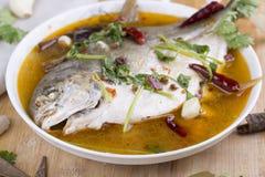 Pomfret fish, chinese food. Stock Photo
