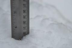 Pomiar Puszysty Biały śnieg Obrazy Royalty Free