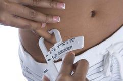 pomiar tłuszczu Fotografia Stock