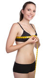 pomiarowa klatki piersiowej kobieta Fotografia Stock