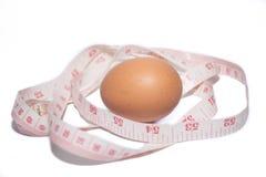 pomiarowa taśma i jajko Zdjęcia Stock
