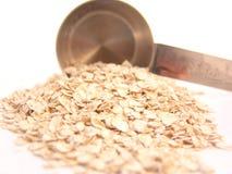 pomiarowy filiżanki oatmeal Obraz Royalty Free