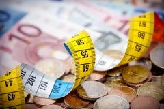 pomiarowy pieniądze Zdjęcie Stock