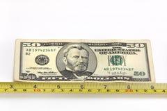Pomiarowy pieniądze Zdjęcia Royalty Free