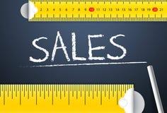 Pomiarowy sprzedaż występ, osiągnięcie i ilustracji