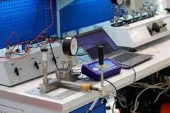 Pomiaru i kontrola laboratorium zdjęcia stock