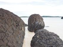 Pomice sulla spiaggia Immagini Stock